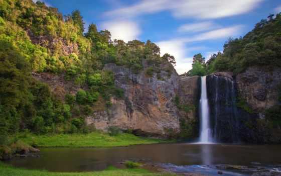 профессиональны, фотографов, mir, природы, глазами, горах, водопад,