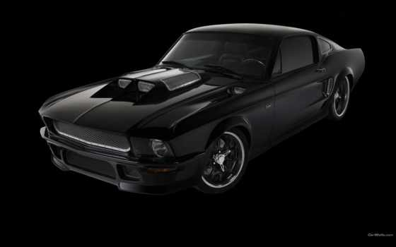 mustang, ford, black