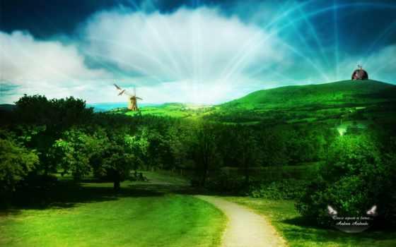 landscape, digital, deinha, vol, andrea, andrade, landscapes, природа, красавица, фотообои,