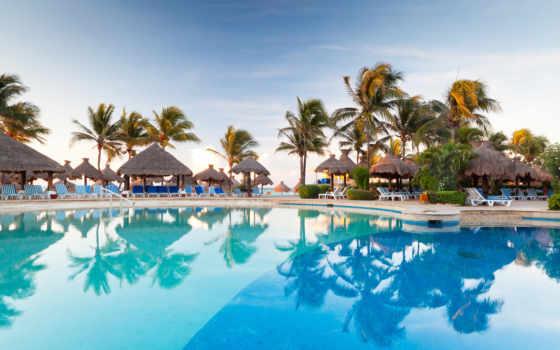 tapety, tapeta, pulpit, lato, wakacyjna, wakacje, morze, plaza, inne, пальмы,