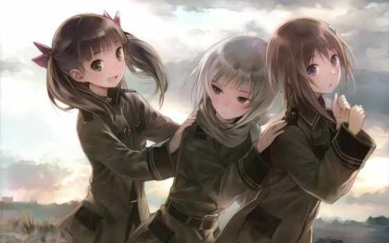anime, небес, девочки