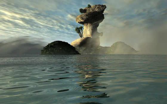 остров, mysterious,