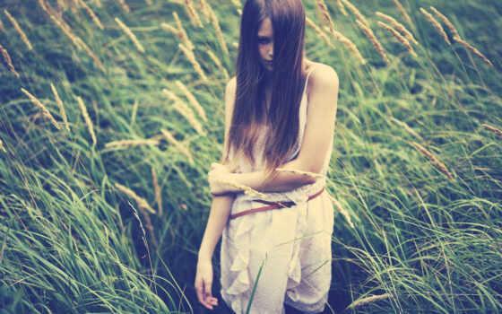 девушка, волосы, настроение, ветер
