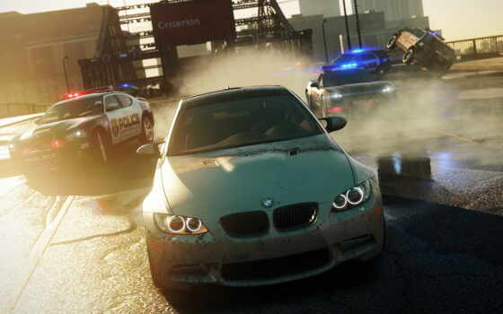 дорога, bmw, nfs, speed, need, полиция, wanted,