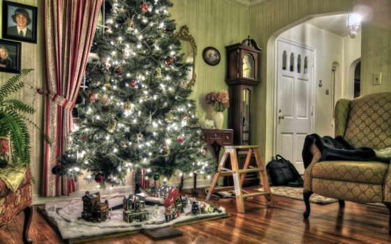 new, год, дерево Фон № 53049 разрешение 2560x1600