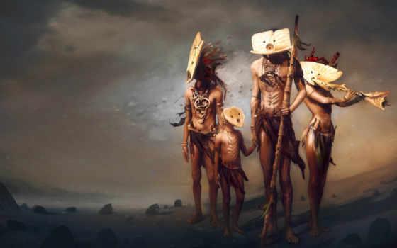 индейцы, люди, kreativ