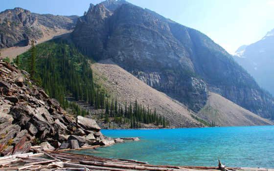 озеро, kanada, moraine, альберта, hdr, ноутбук, канада, телефон, планшетный,