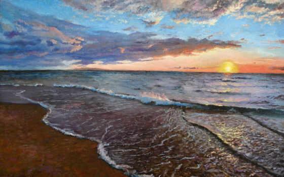 живопись, море, бриз, сергей, realism, луценко, сергеевич,