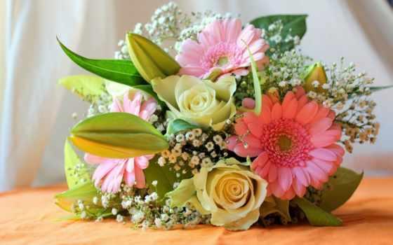 букет, cvety, цветы, герберы, цветов, букеты, роза,
