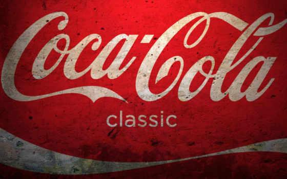 coca, cola, логотип, напиток, red,