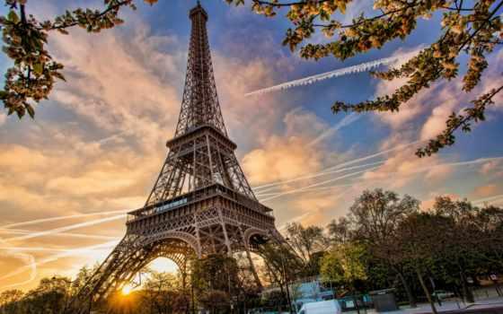 turret, эйфелева, осень, париж, landscape, природа, листва, kastrulishe, мегаполисы,