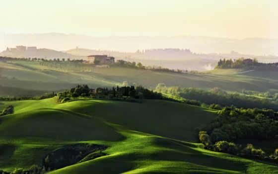 italy, tuscany, поля