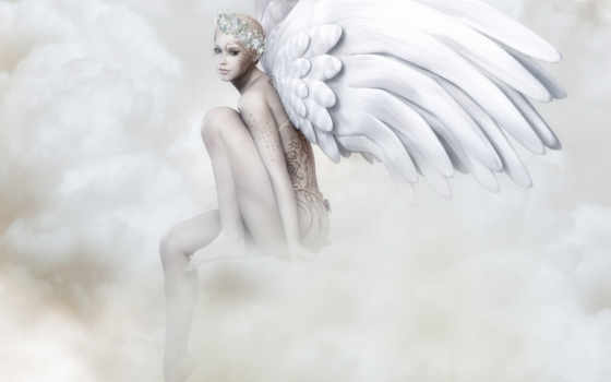 angel, rendering, крылья