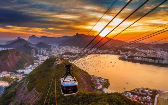 copacabana, пляж, rio, город, наши, меч, близко, яхты,