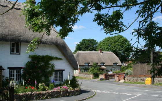 ashbury, oxfordshire, дома, inglaterra, улица, великобритания, картинка, casa,