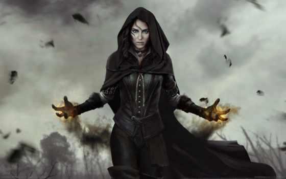 чародейка, йеннифэр, ведьмак, чародейки, fantasy, игры,