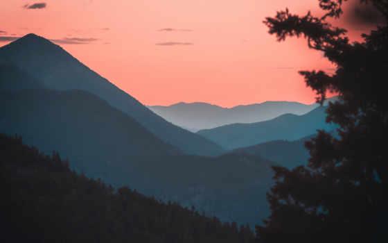 сумерки, desktop, mountains, resolutions, mobile,