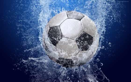 water, footbal, ball, blue, splash, football, drops, spray, desktop,