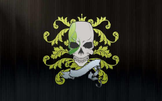 завитки, skull, logo, art, черепок, lewnidas, clan, vol, смерть, категория, черепа, head, sidnokarb,