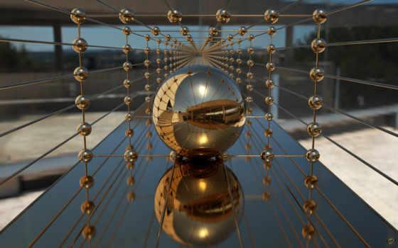 отражение, шар