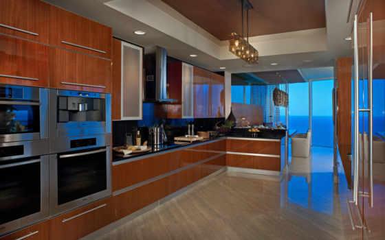 кухни, design, широкоформатные