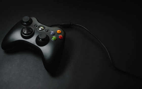 xbox, black, геймпад