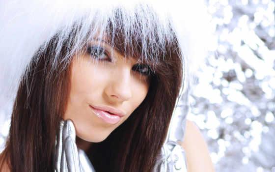 симпатичные, devushki, девочки, девушка, снегурочки, шапка, winter, взгляд, красивые, дек, губы,