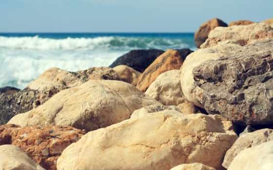 камни, море, моря, круглые, берег, заставки, булыжники, waves, пляж,