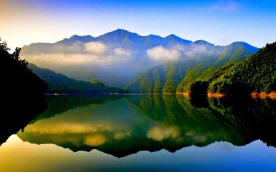 спокойствие, озеро, see, рай, взгляд, more, об, природа, mountains, serenity,