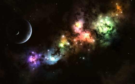 cosmos, высоком, качестве, planet, луна, свет, бесплатные, красивые, скачай, звезды,