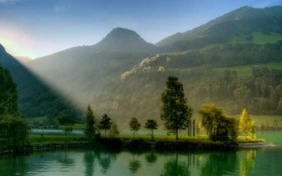 холмы, река