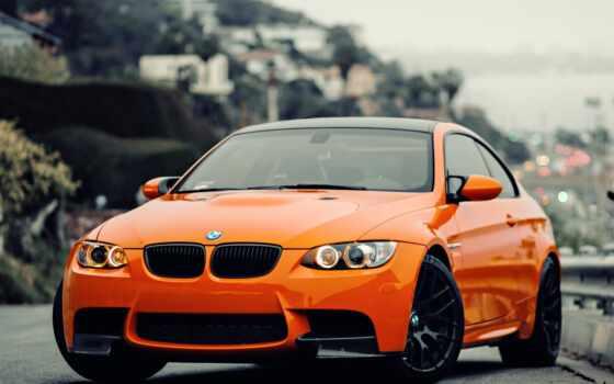 bmw, машины, оранжевый
