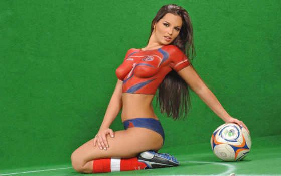 девушки, бодиарт, футболистки, футбол, боди, количество, art, девушек,
