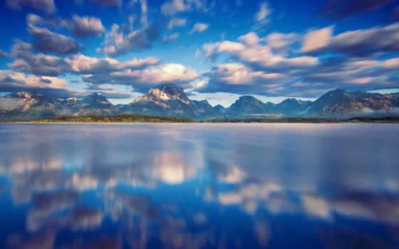 voda, отражение, небо