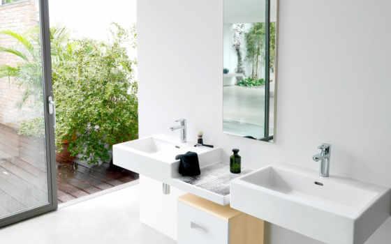 ванная, pvh, зеркало, листовые, умывальник,
