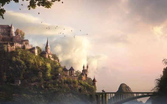 рыцарь, art, castle