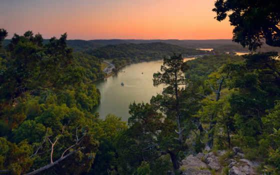 ozarks, озеро, missouri, waste, resort, college, solid, rock,