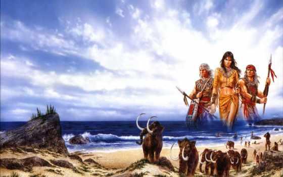 люди, море, art, fantastic, американский, indians, книга, cover, fantasy,