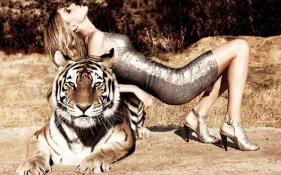 тигр, девушка, card, коллекция, url, user, яndex, фото, фотосессия, цепь