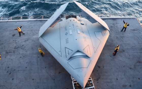 впервые, самолёт, устройство, air, drone, палубы, ucas, unmanned, сша, combat,