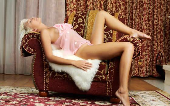 девушка, кресле, кресло, занавески, девушки, лежит, девушек,