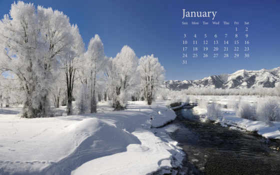 зимние, winter, природа