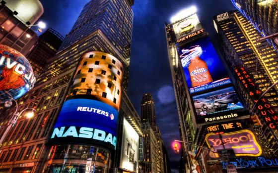 город, new, york, ночь, desktop, widescreen,