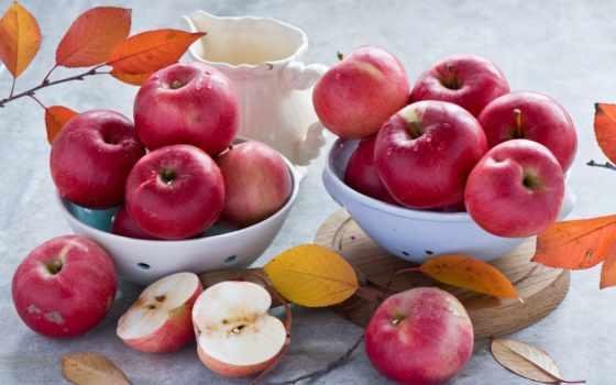 яблоки, натюрморт, apple, фрукты, разное, еда,
