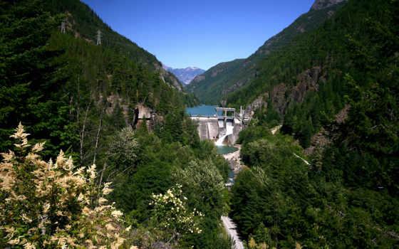 природа, проект, skagit, река, hydroelectric, без, качественные, подборка, www,