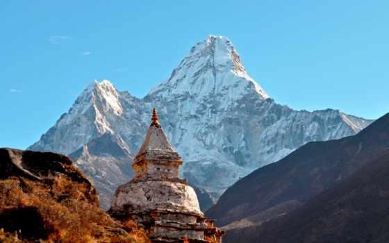 ama, dablam, гималаи, горы, nepal, mobile, телефон, храм,