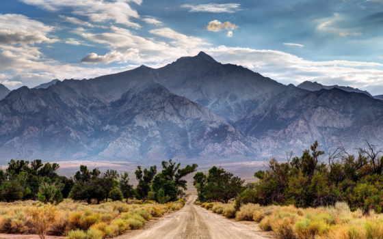 дорога, горы, гора, landscape, ведущая, деревьев,