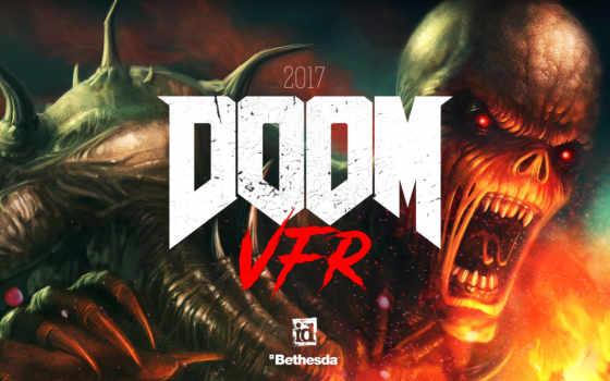 doom, vfr, реальности, очках, игры, виртуальной, htc, vive, играет,