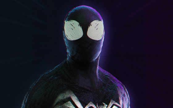 marvel, spiderman, art, venom, паук, symbiote, мужчина, злодей, heroes,