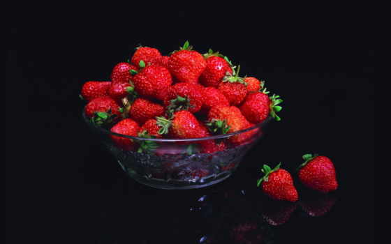 клубника, еда, фрукты